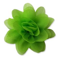 7cm Lily LIME GREEN Fabric Flower Applique